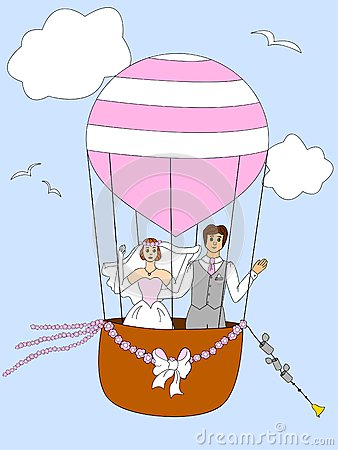 Just married couple ballooning