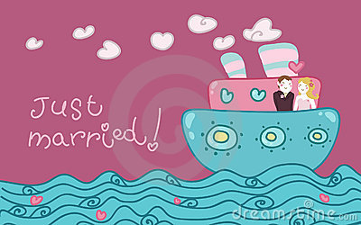 Just married love boat