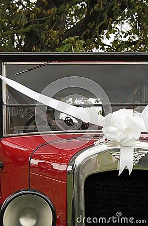 Just Married Old Vintage Wedding Car