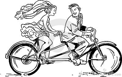 Just married riding
