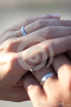 Free Just Married Rings Stock Photo - 90824690