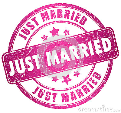 Free Just Married Stamp Royalty Free Stock Image - 27707126
