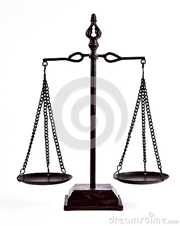 Free Justice Balance Royalty Free Stock Photography - 26724007