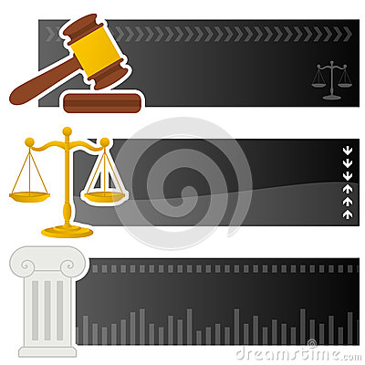 Justice & Law Horizontal Banners