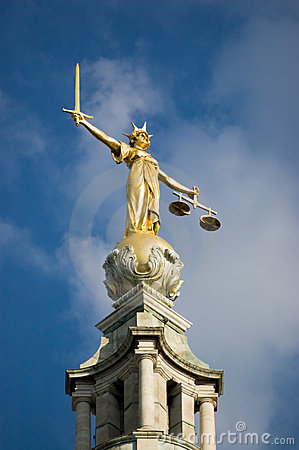 Free Justice Statue, Old Bailey Stock Photos - 14536043