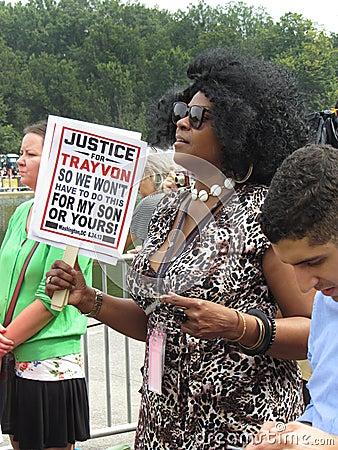 Justice for Trayvon Martin Editorial Photo