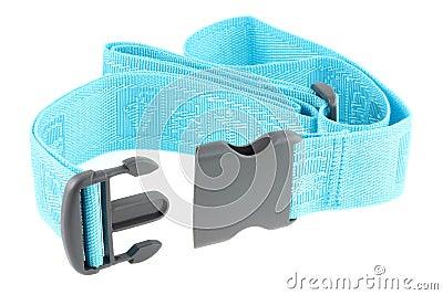 Justierbarer blauer Reisen-Gepäck-Gurt