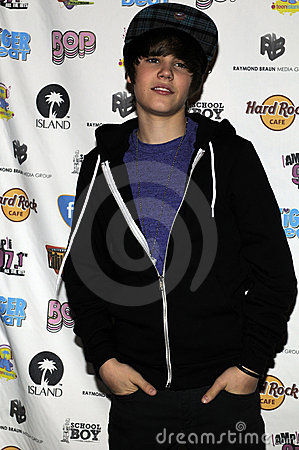 Justin Bieber appearing live. Editorial Stock Image