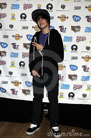 Justin Bieber appearing live. Editorial Photography