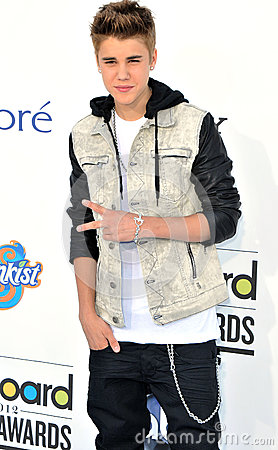 Justin Bieber arrives at the 2012 Billboard Awards Editorial Photography