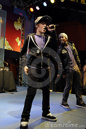Justin Bieber performing live. Editorial Photography