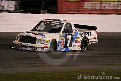 Justin Lofton NASCAR Truck Series ORP Exit 2 Night Editorial Stock Image