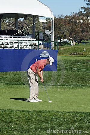 Justin Rose 2012 Farmers Insurance Open Editorial Stock Image