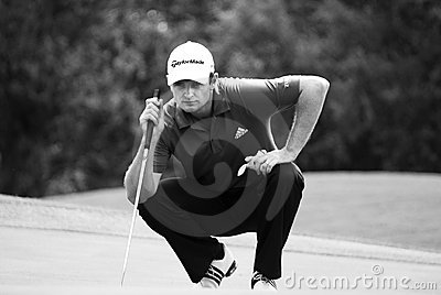 Justin Rose - Takes Aim Editorial Stock Photo