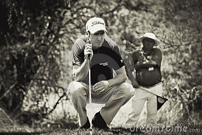 Justin Rose - Takes Aim Editorial Image