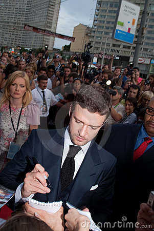 Free Justin Timberlake In Moscow Royalty Free Stock Image - 20639486