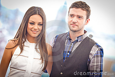 Justin Timberlake and Mila Kunis Editorial Image