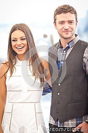 Justin Timberlake and Mila Kunis Editorial Photo