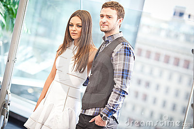 Justin Timberlake and Mila Kunis Editorial Photo