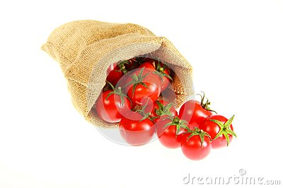 Jute bag fill of tomatoe