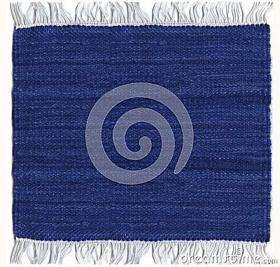 Jute carpet blue