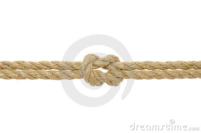 Jute Rope with Reef Knot