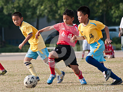 Juvenile football Editorial Stock Image