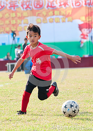 Juvenile football Editorial Image