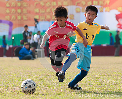 Juvenile football Editorial Stock Photo