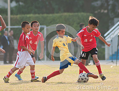 Juvenile football Editorial Photography