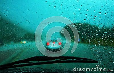 Körning av regn