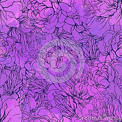 Künstlerisches nahtloses Muster mit Blumen