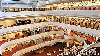 4K在多伦多参考图书馆的UltraHD Timelapse 股票录像