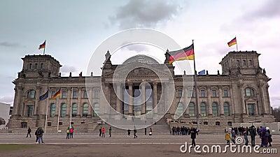 4K德国柏林议会或德国联邦议院德国议会大楼录像 影视素材