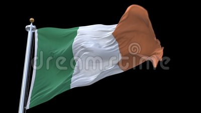 4k无缝的爱尔兰沙文主义情绪在风 包括的阿尔法通道 影视素材