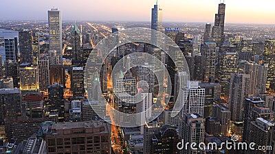 4K εναέριο timelapse UltraHD του ορίζοντα του Σικάγου