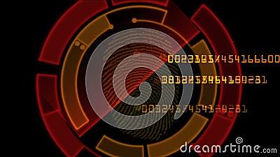 4k κωδικός πρόσβασης ανίχνευσης ταυτότητας δακτυλικών αποτυπωμάτων, γονίδιο αναζήτησης χάκερ κατασκόπων που τοποθετεί διαδοχικά τ διανυσματική απεικόνιση