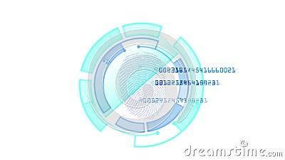 4k κωδικός πρόσβασης ανίχνευσης ταυτότητας δακτυλικών αποτυπωμάτων, γονίδιο αναζήτησης χάκερ κατασκόπων που τοποθετεί διαδοχικά τ απεικόνιση αποθεμάτων