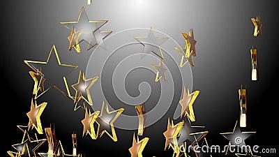 4k abstraem o fundo cinco-aguçado do símbolo do espaço da arte do projeto da partícula da estrela 3d ilustração do vetor