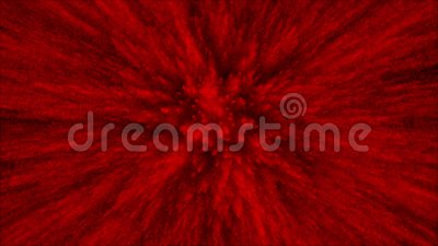 Animation of 3D red particles on black background , Dust explosion and Close up view. 4K amazing   Animation of 3D red particles on black background , Dust royalty free illustration