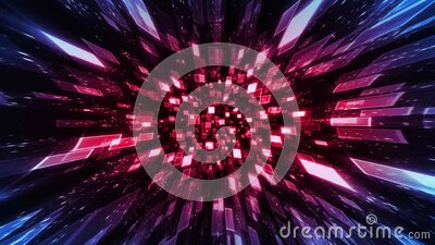 Abstract Technology Ornamental Background stock footage
