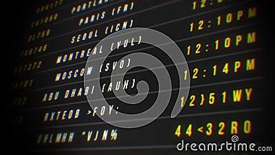 Airport Departure Board Loop stock footage