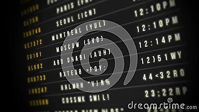 Airport Departure Board Loop stock video