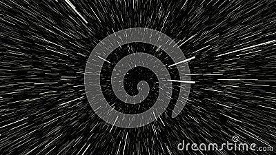 4K Contexte cosmique abstrait créatif Hyper-saut dans une autre galaxie vitesse lumineuse rapide illustration libre de droits