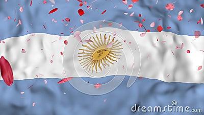 4k 3d Realista Detalló La Bandera De La Argentina De La Cámara Lenta Fondo Animado De La Bandera De Irán Que Volaba Falling Internacional