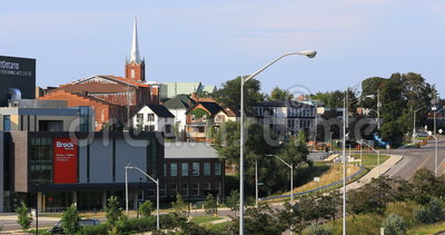 4K de bouw van UltraHD Brock University, St Catharines, Canada stock footage