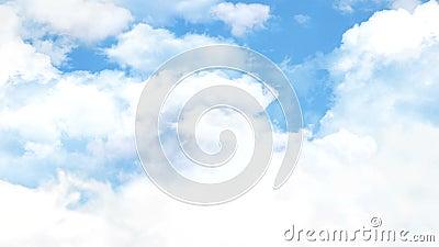 4K de vlieg van de wolkenlucht