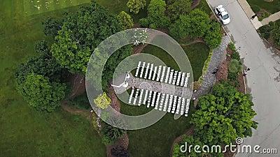 4 K Disparo da altura do voo de aves Clube Golf, Condado de Bucks video estoque