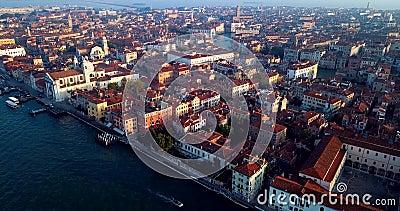 4K Filme da Vista do Sol até à Praça San Marco, Centro Municipal de Veneza, Itália filme