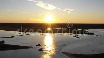 4k Footage Washington Oaks Gardens State Park bei Sonnenuntergang stock footage